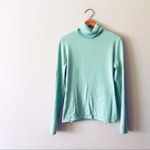 Talbots Seafoam Light Weight Turtleneck Sweater